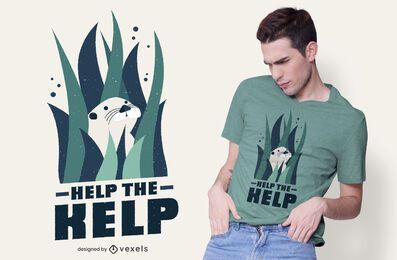 Ajude a t-shirt de alga marinha a desenhar