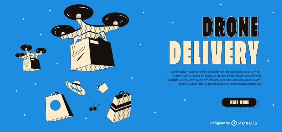 Drone delivery slider template