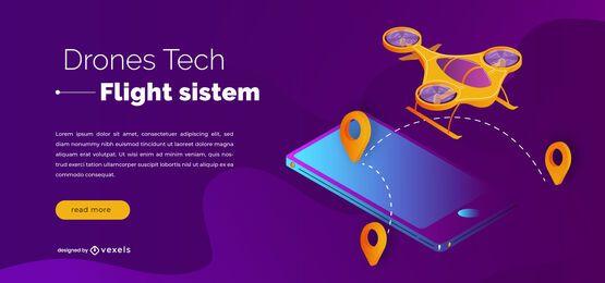 Design de controle deslizante de tecnologia de drones