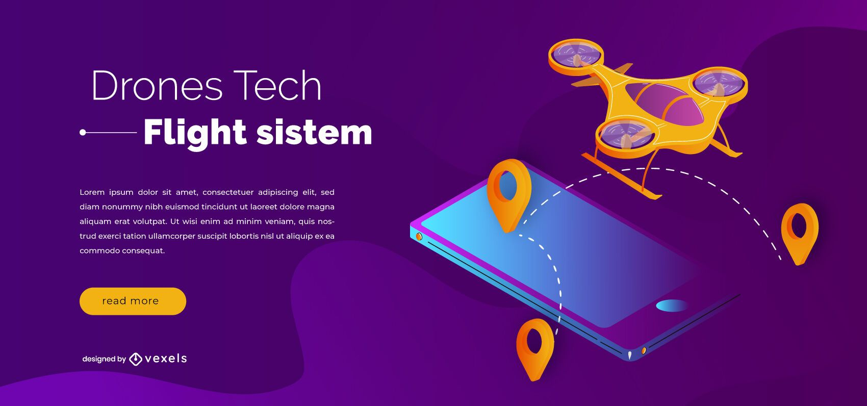 Drones tech slider design