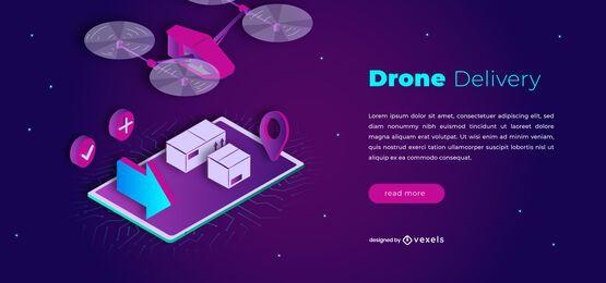 Design de controle deslizante de entrega drone
