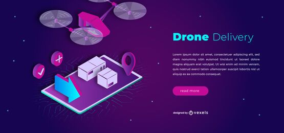 Drone delivery slider design