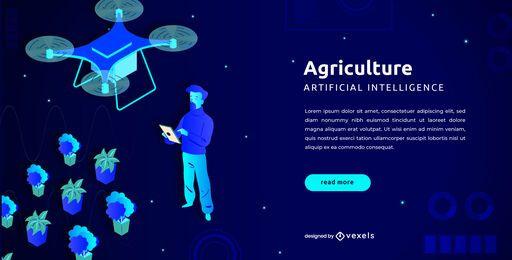 Plantilla de control deslizante de agricultura Drone