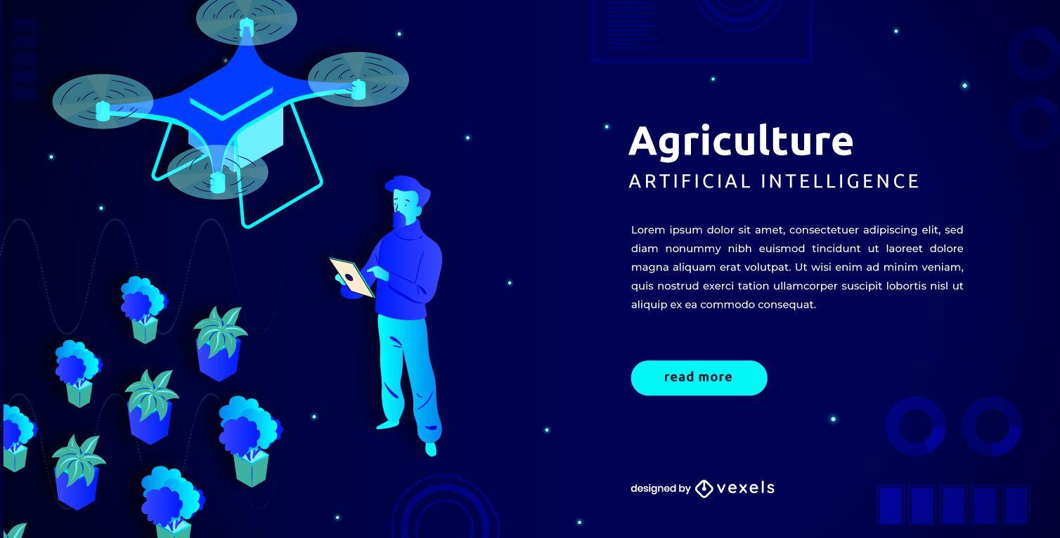 Plantilla de control deslizante de agricultura de drones