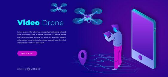 Modelo de controle deslizante de drone de vídeo