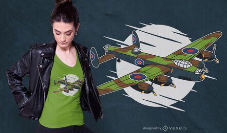 Projeto do t-shirt do bombardeiro de Lancaster