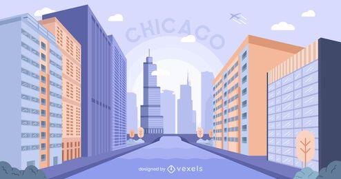 Projeto da cidade de construção de Chicago