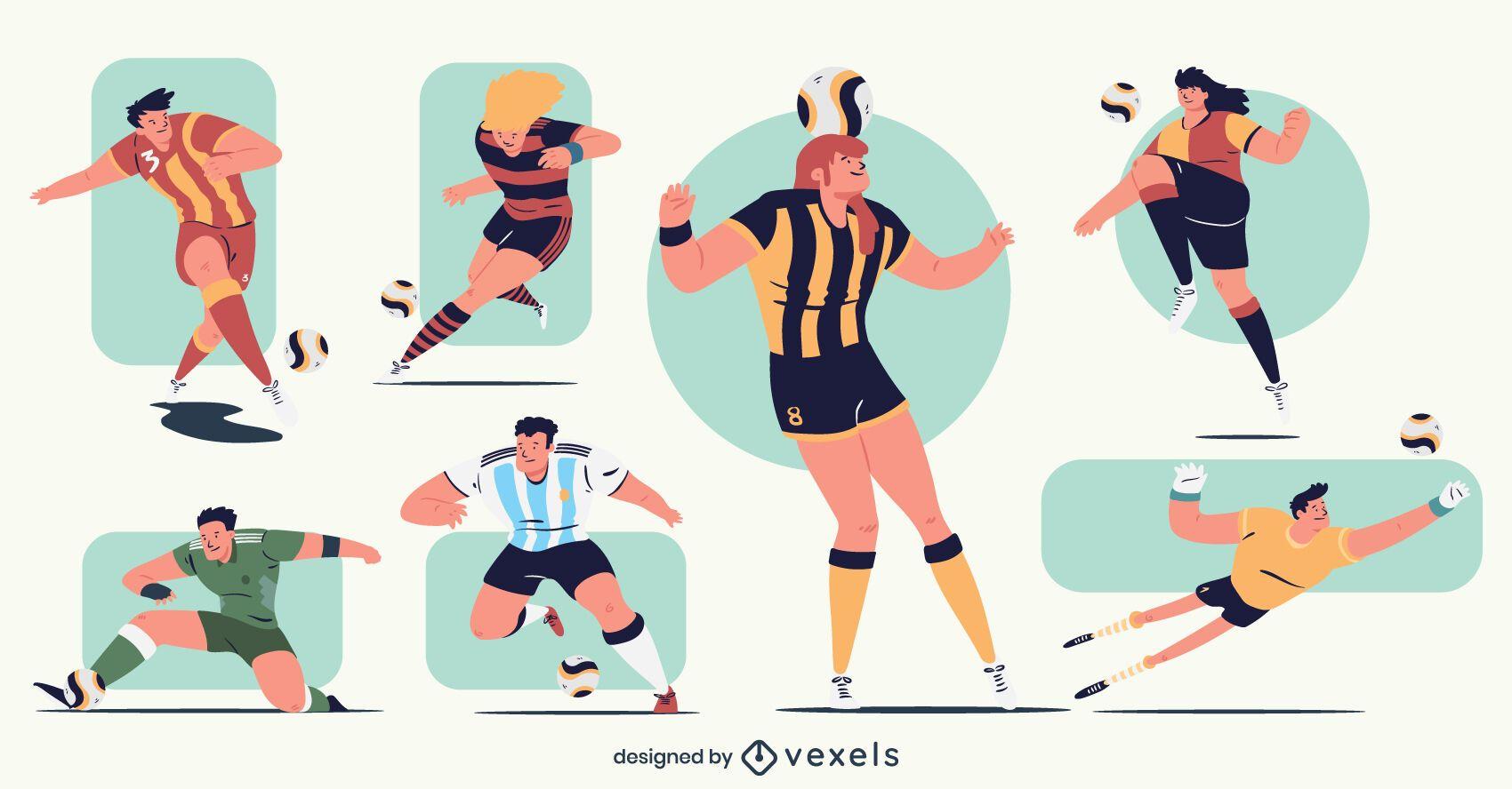 Paquete de personajes de jugador de fútbol