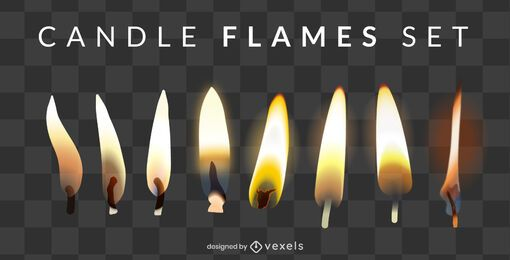 Candle Flame Design Set
