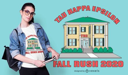 Tau Kappa Epsilon House T-shirt Design