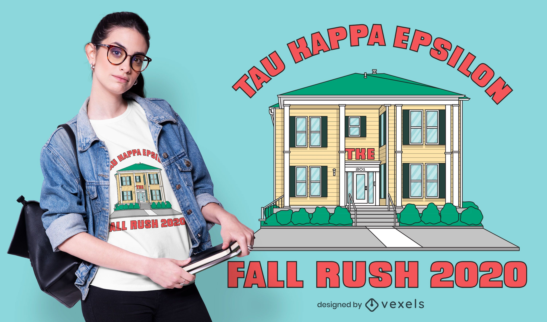 Diseño de camiseta Tau Kappa Epsilon House