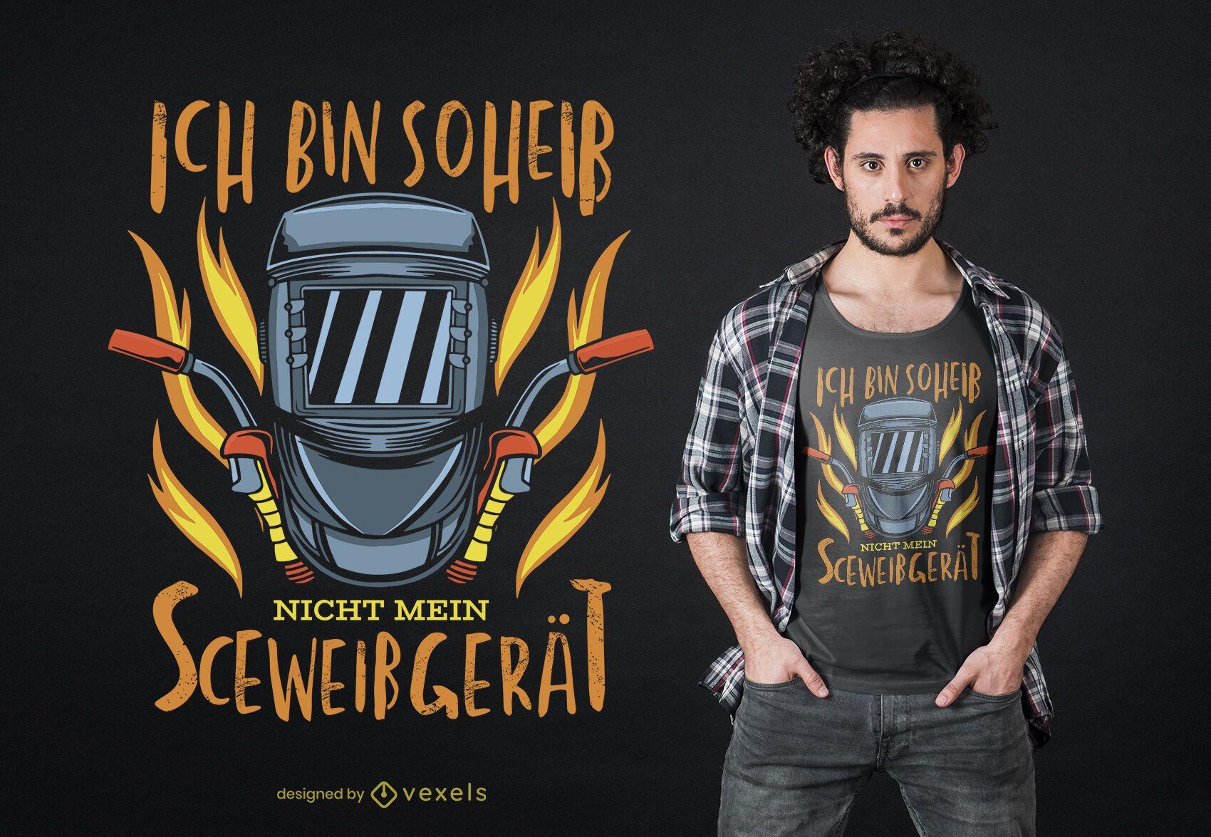 Welder German Text T-shirt Design