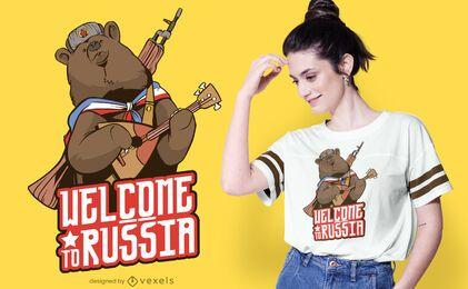 Bem-vindo ao design de t-shirt da Rússia