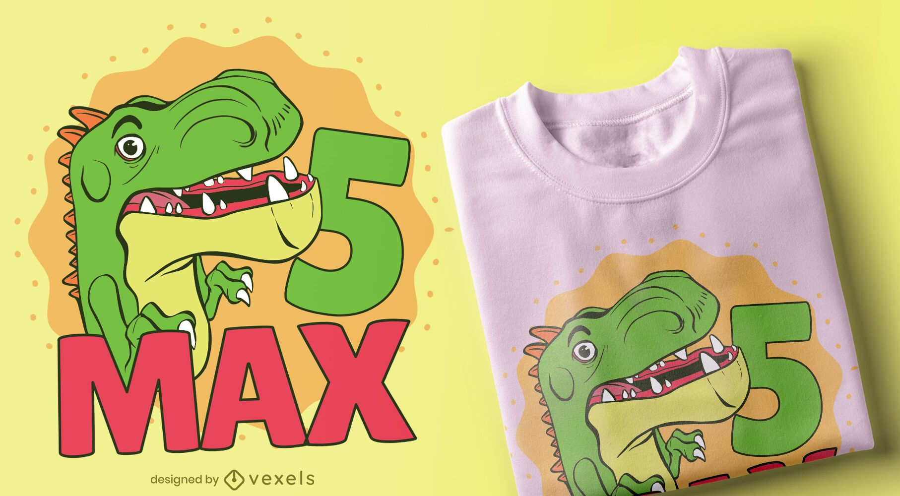 Birthday Dino T-shirt Design