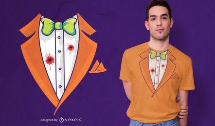 Design de t-shirt de fantasia de smoking de Halloween