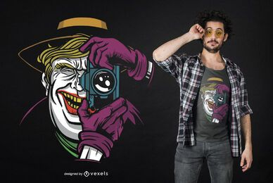 Design de camisetas Trump Joker