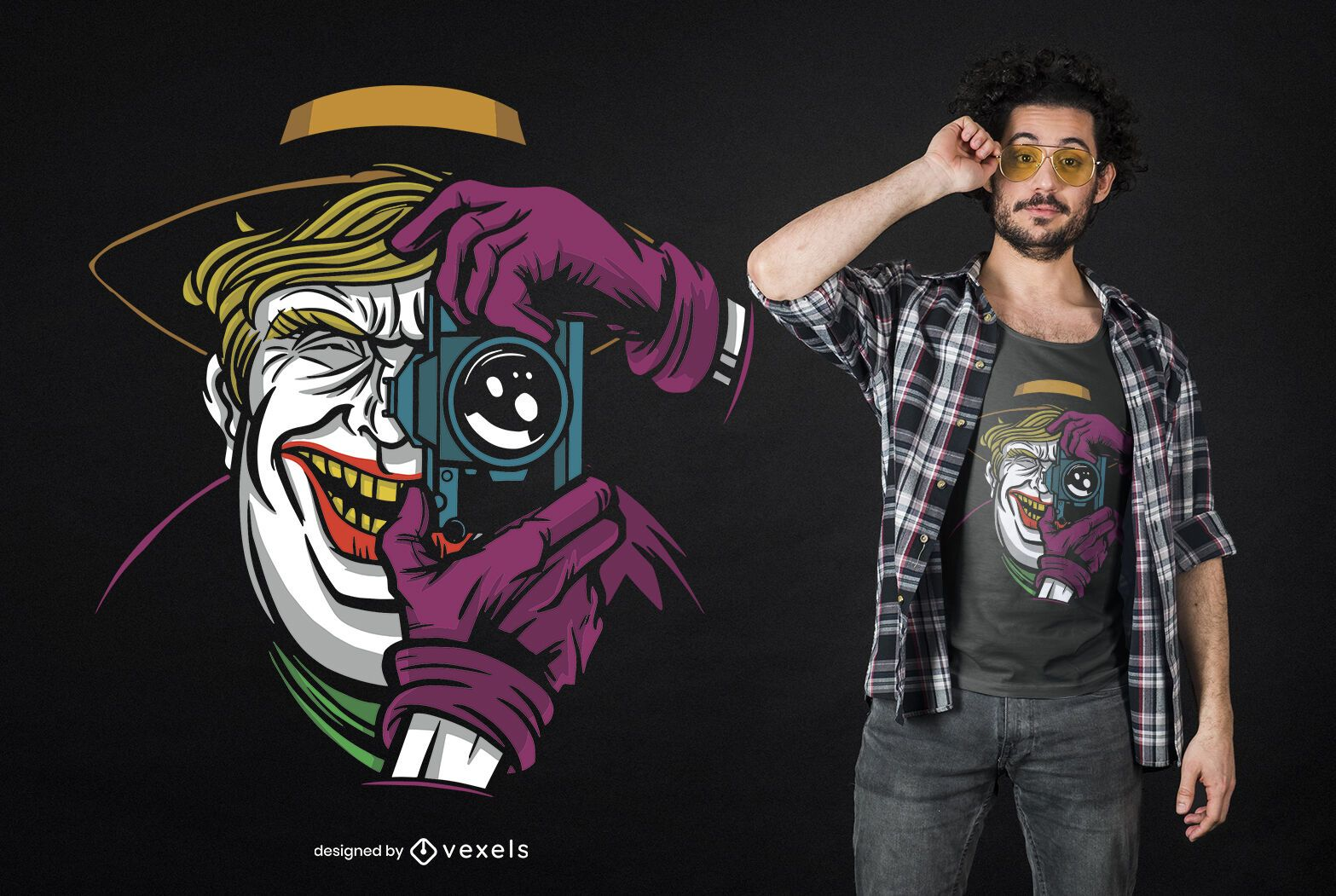 Dise?o de camiseta Trump Joker