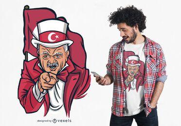 Design de t-shirt de paródia de Erdogan
