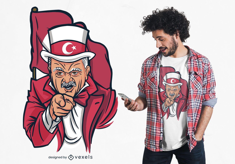 Erdogan Parody T-shirt Design