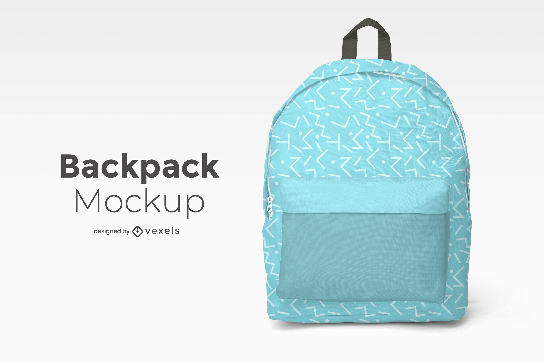 Backpack front mockup design