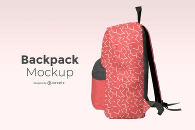 Backpack side mockup design