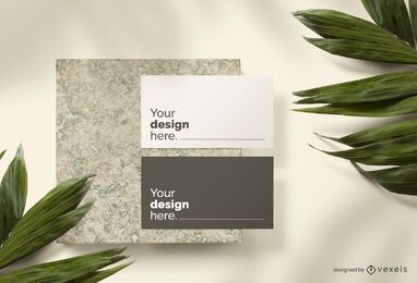 Business card mockup set composition
