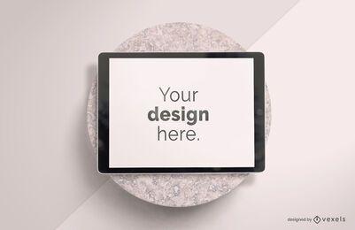 Design de maquete de pedra para ipad