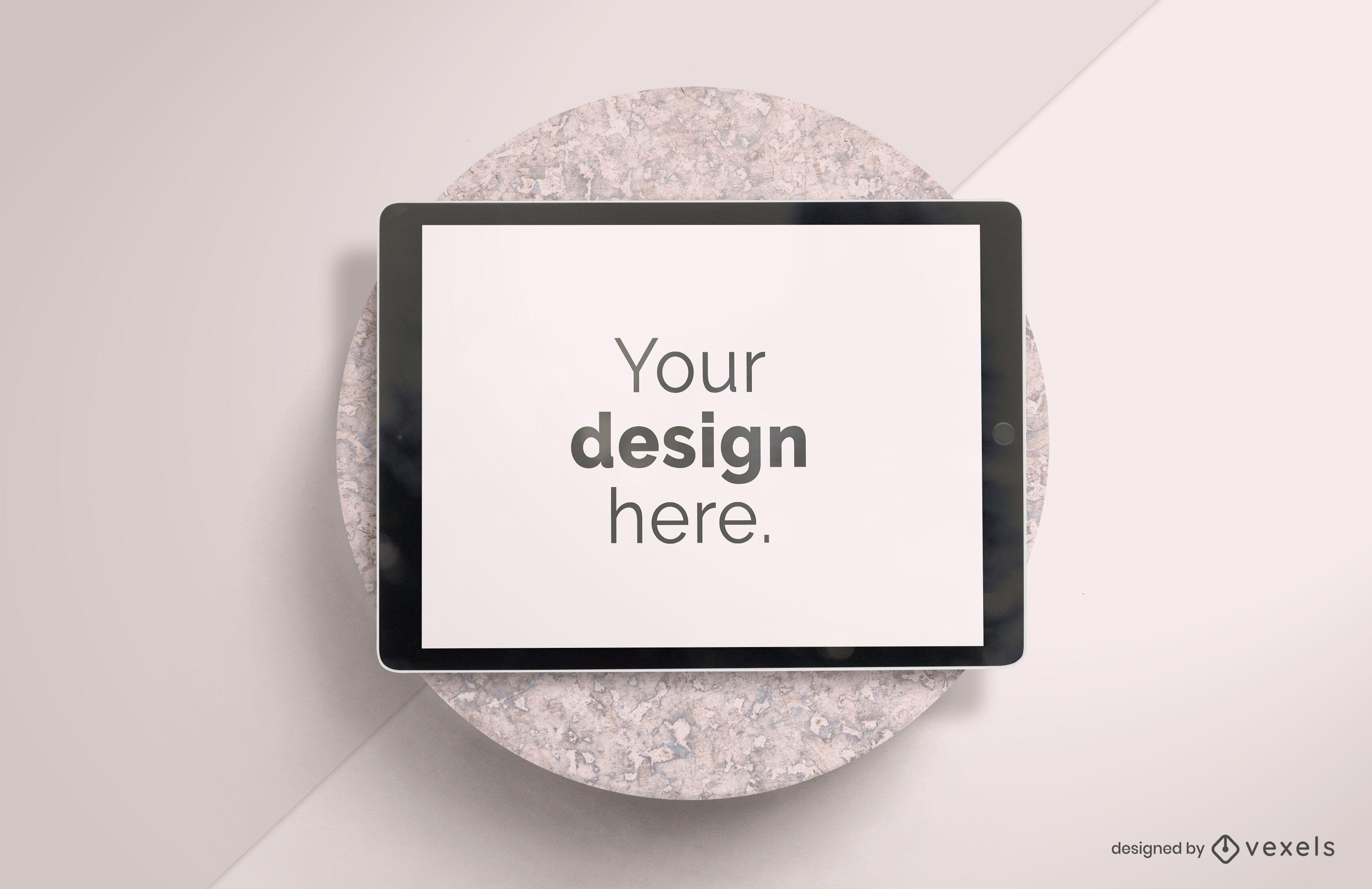 Ipad stone mockup design