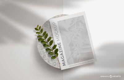Design de maquete de sombras de revista