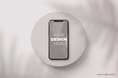 Composição de maquete de placa de telefone