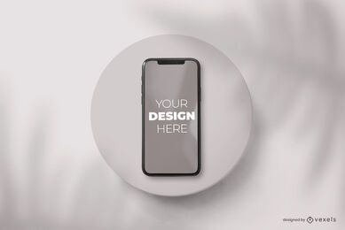 Phone plate mockup composition
