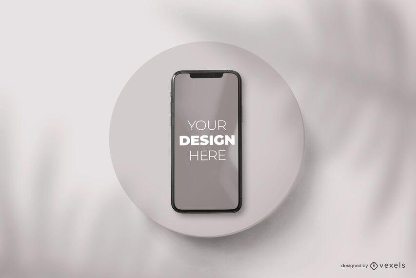 Composição da maquete da placa do telefone