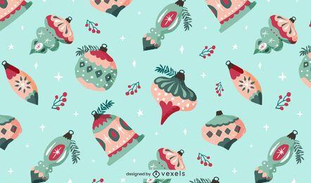 Design de padrão de enfeite de Natal