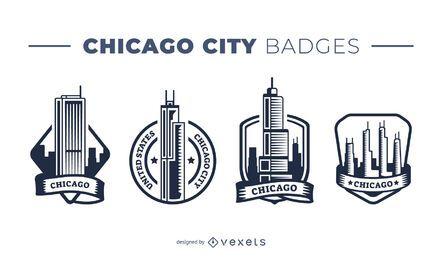 Paquete de insignias de la ciudad de Chicago