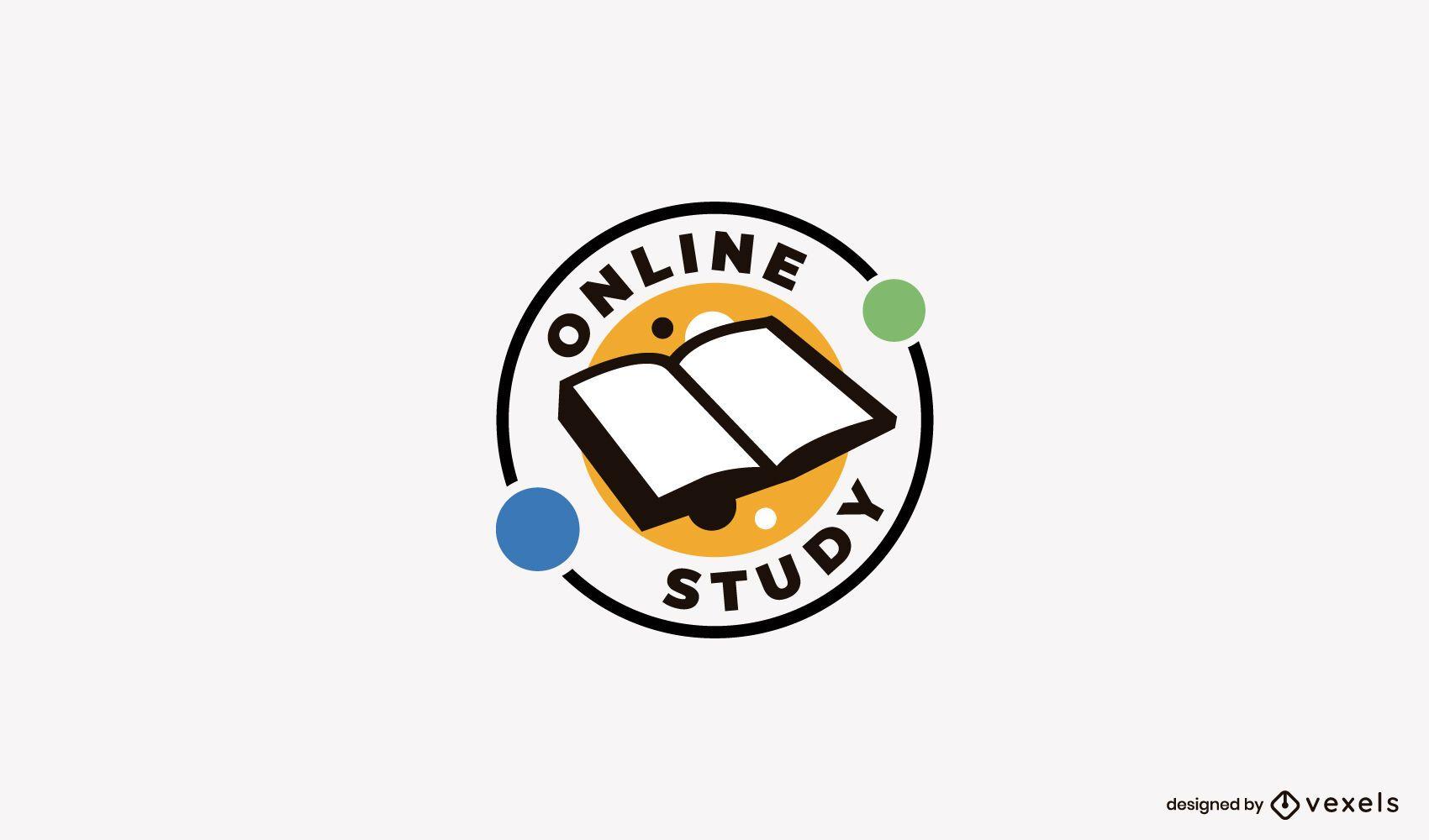 Design de logotipo de estudo online