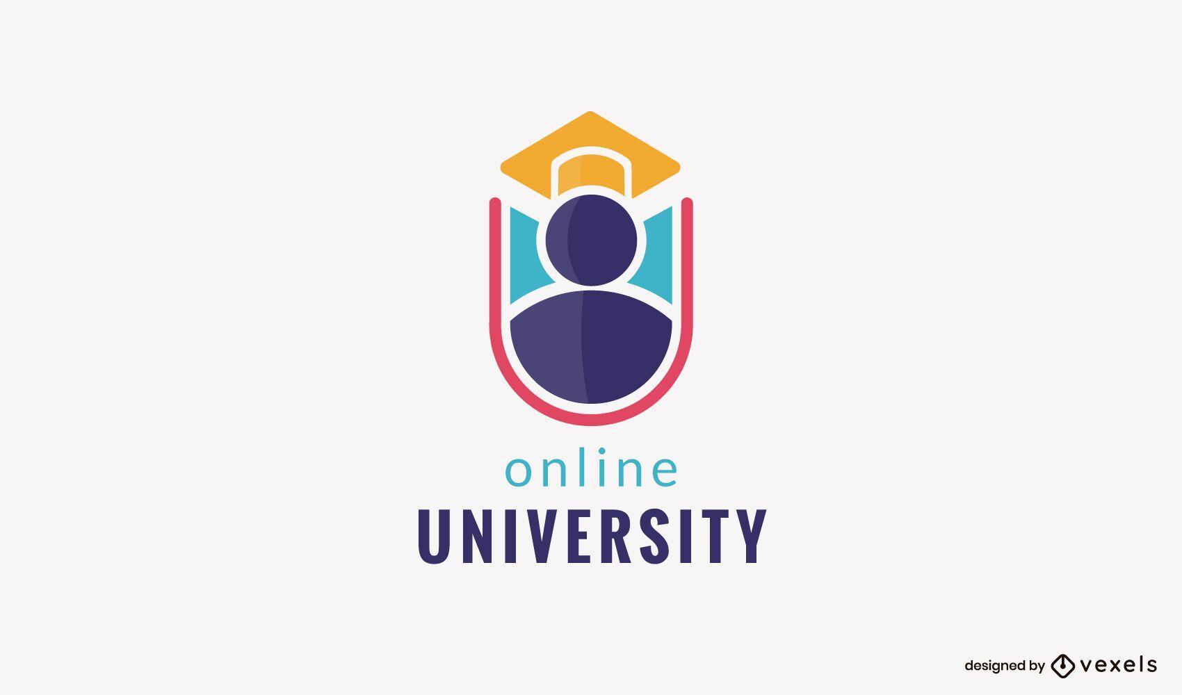Design de logotipo de universidade online