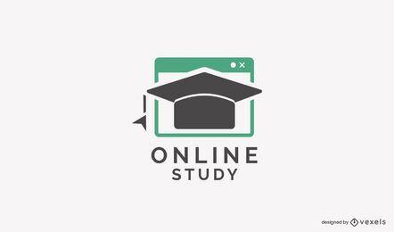 Modelo de logotipo de estudo online