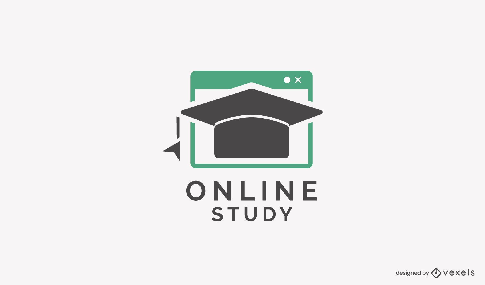 Plantilla de logotipo de estudio en línea