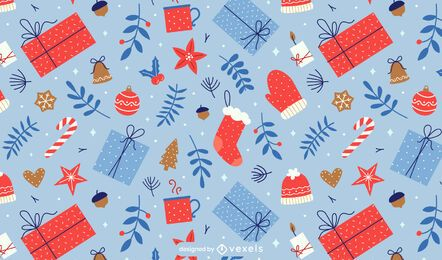 Christmas presents pattern design