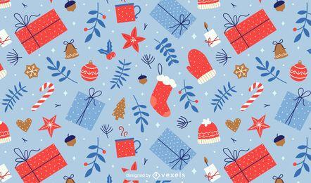 Weihnachten präsentiert Musterdesign