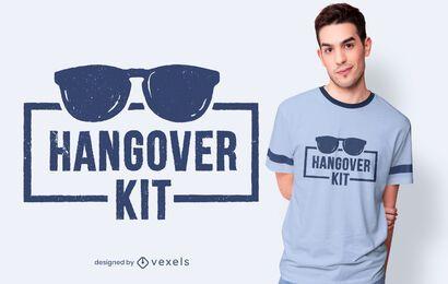 Design de camiseta de kit de ressaca