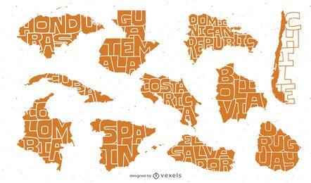 Paquete de países de habla hispana latina