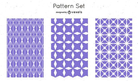 Lilac geometric pattern design