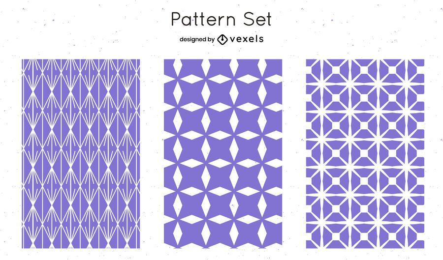 Lilac geometric pattern design