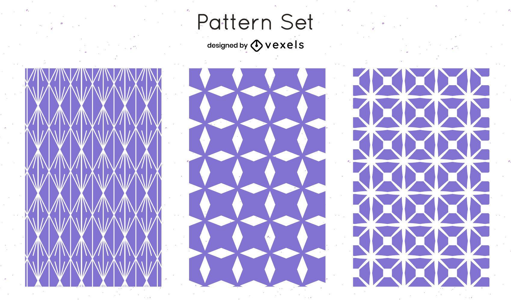 Diseño de patrón geométrico lila
