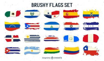 Paquete de países de habla hispana de Brush