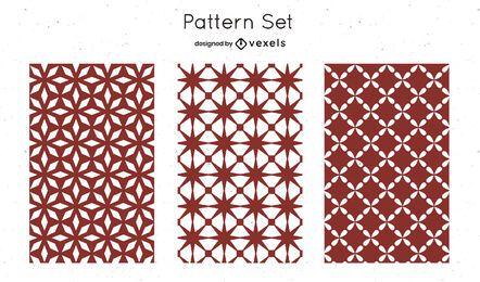 Diseño de patrón geométrico rojo