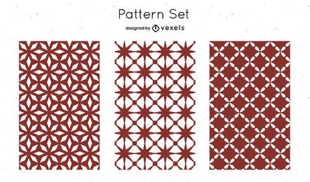 Red geometric pattern design