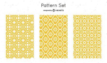 Diseño de patrón geométrico amarillo