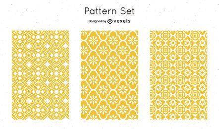 Yellow geometric pattern design